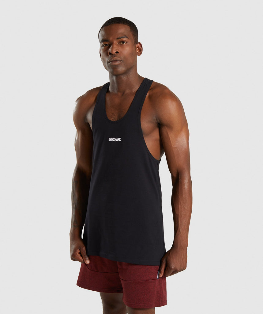 Gymshark Linear Stringer - Black 1
