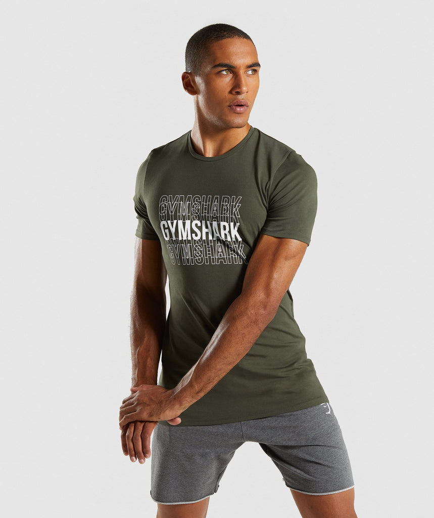 Gymshark Haze T-Shirt - Woodland Green 1
