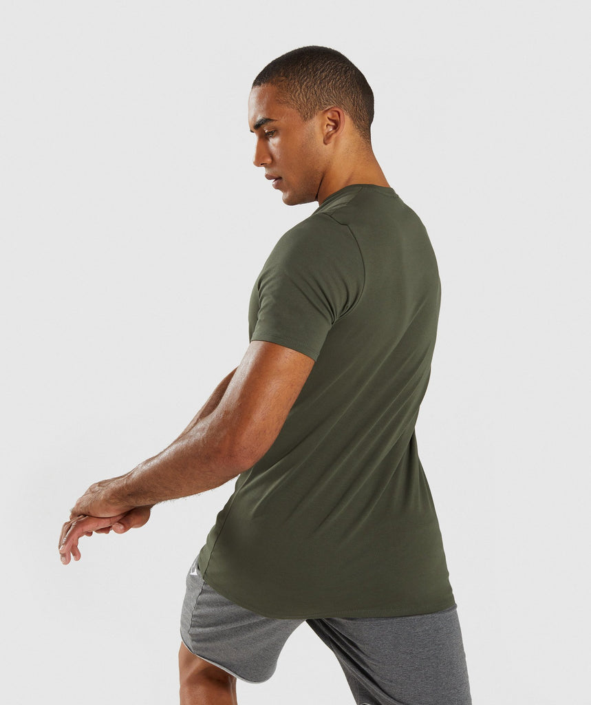 Gymshark Haze T-Shirt - Woodland Green 2