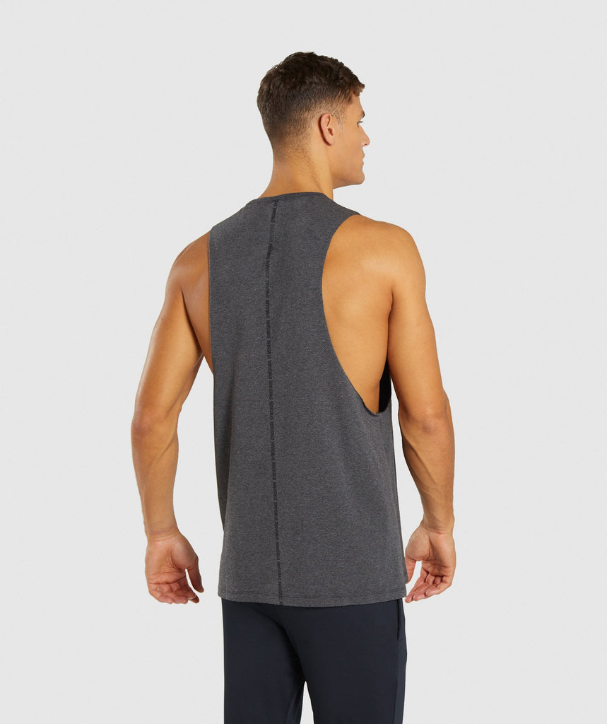 Gymshark Linear Tank - Charcoal Marl 2