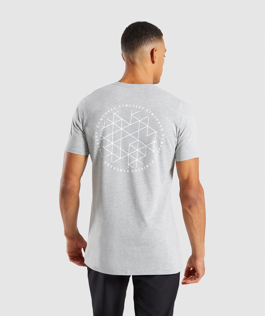Gymshark Geo T-Shirt - Light Grey Marl 2