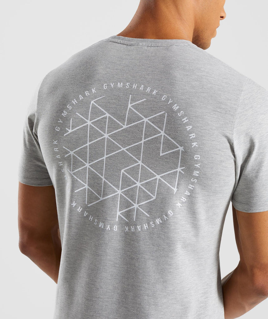 Gymshark Geo T-Shirt - Light Grey Marl 5