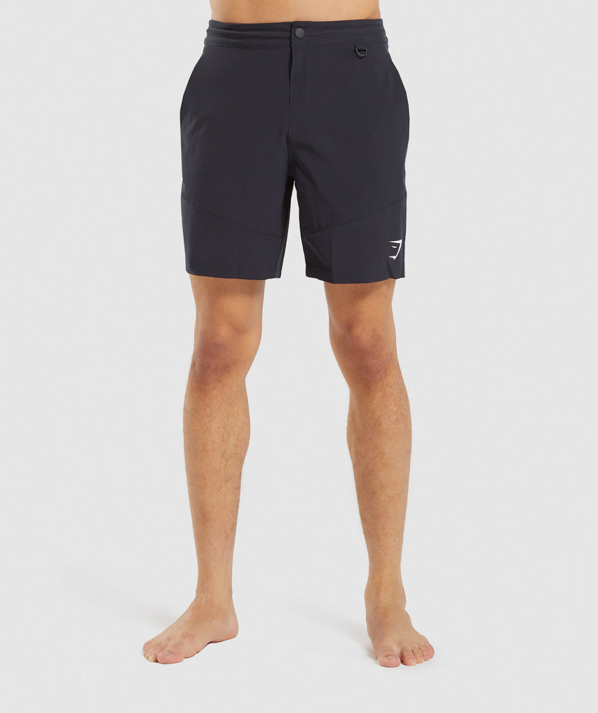 Gymshark Hybrid Swim Shorts - Black Marl 1