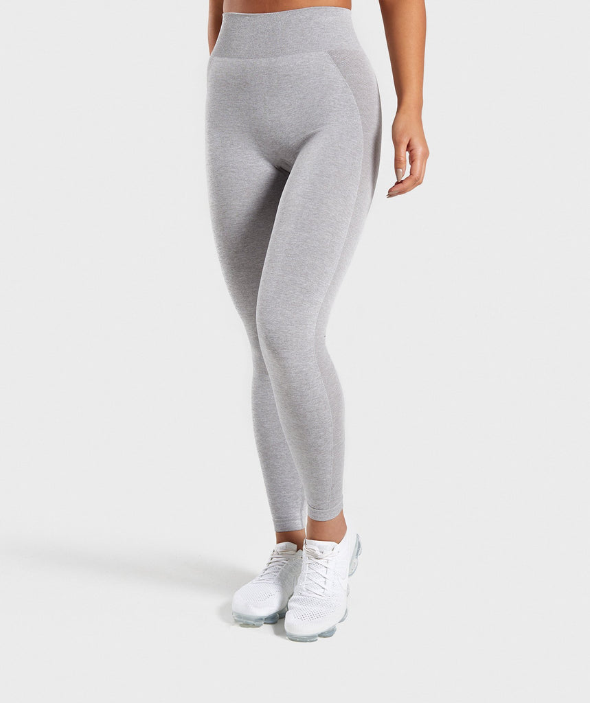 7cf6057aba29c Gymshark Flex High Waisted Leggings - Light Grey/Blue 1