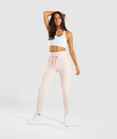 Gymshark High Waisted Joggers - Blush Nude Marl 10
