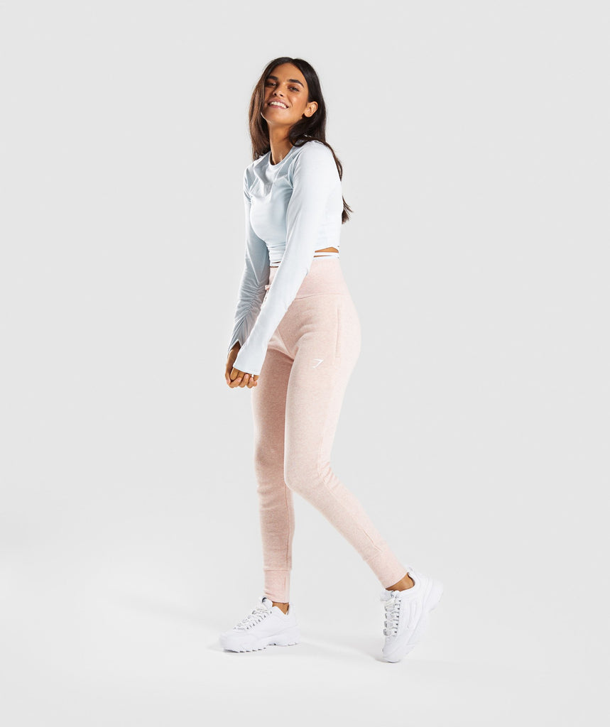 Gymshark High Waisted Joggers - Blush Nude Marl 5