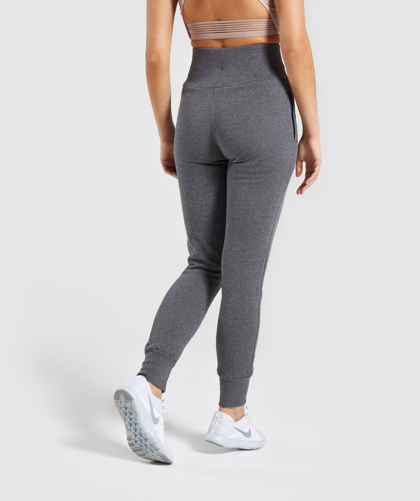 Gymshark High Waisted Joggers - Charcoal Marl 2