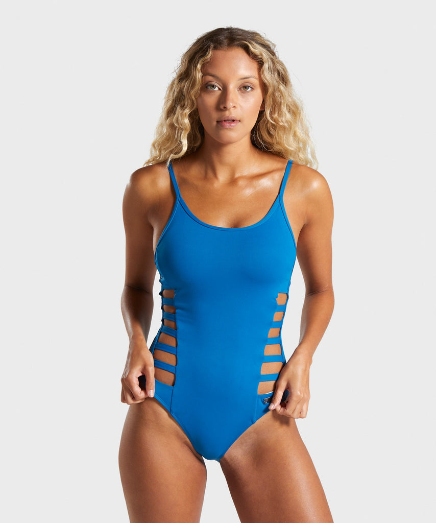 Gymshark Horizon Swimsuit - Blue 1