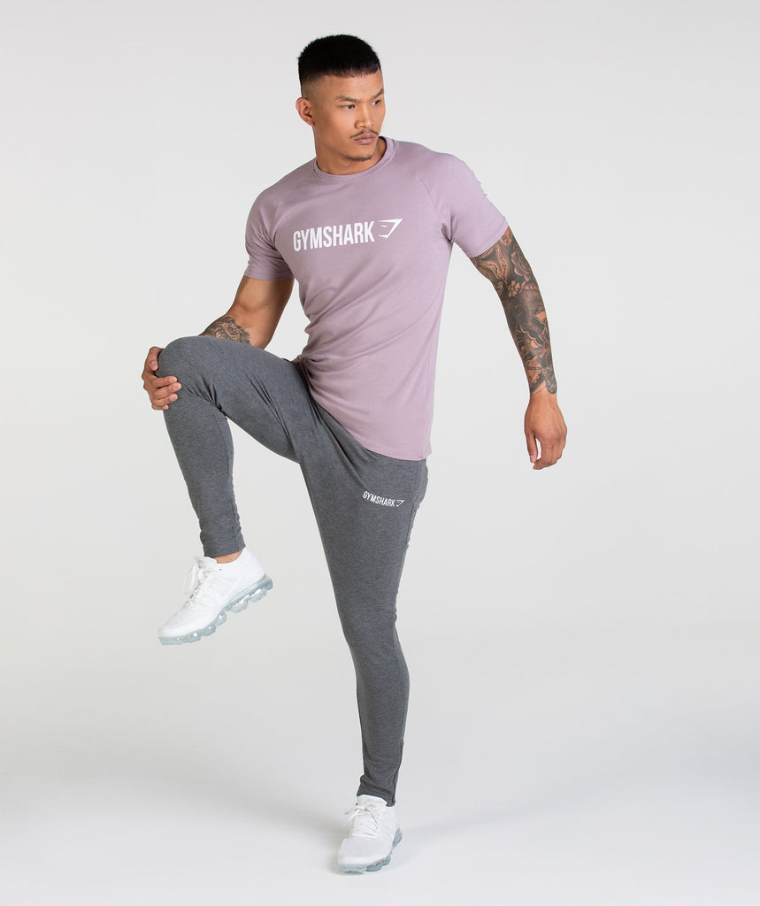 Gymshark Apollo T-Shirt - Purple Chalk/White 2