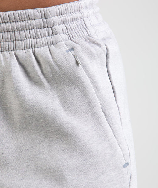 Gymshark Ozone Shorts - Light Grey Marl 4