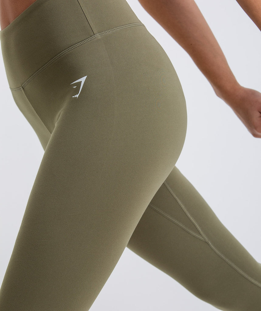 Gymshark Dreamy Cropped Leggings  - Khaki 5