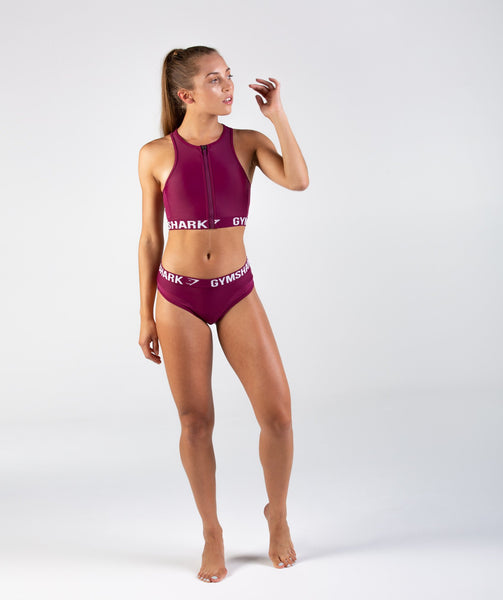 Gymshark Charge Sports Bikini Top - Deep Plum 2