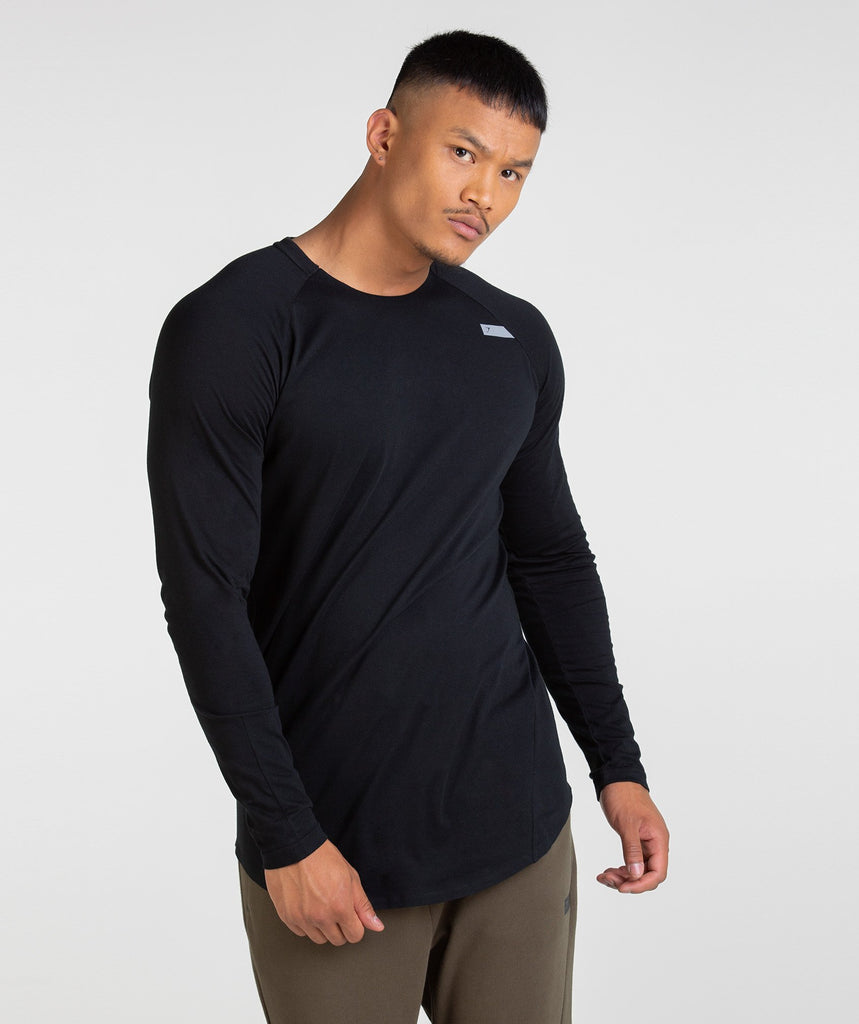 Gymshark Construction Long Sleeve T-Shirt - Black 1