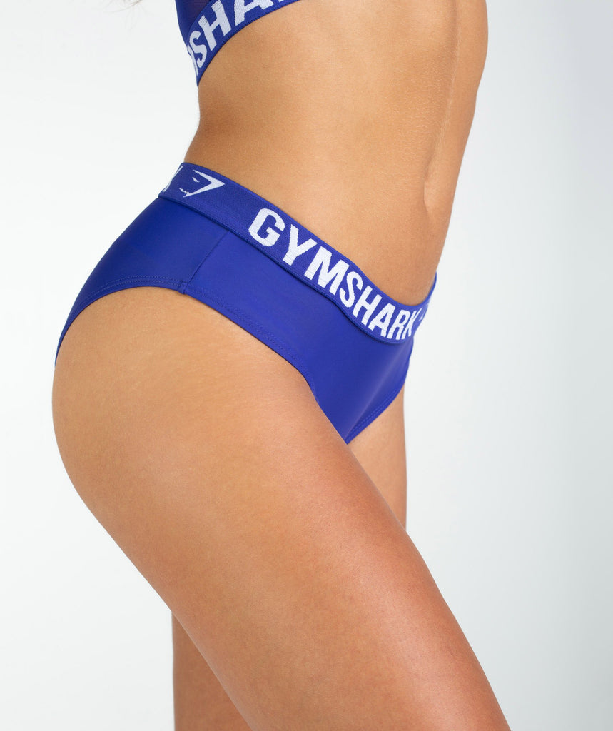 Gymshark Workout Bikini Bottoms - Indigo 6