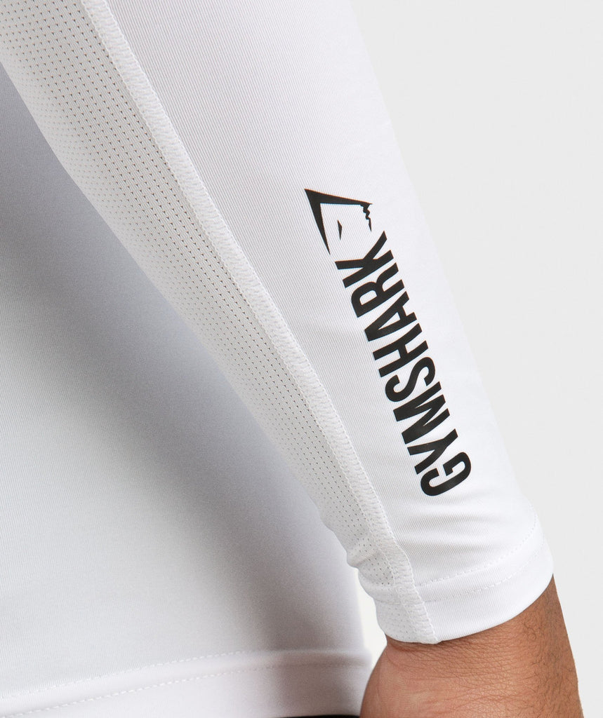 Gymshark Element Baselayer Long Sleeve Top - White 6