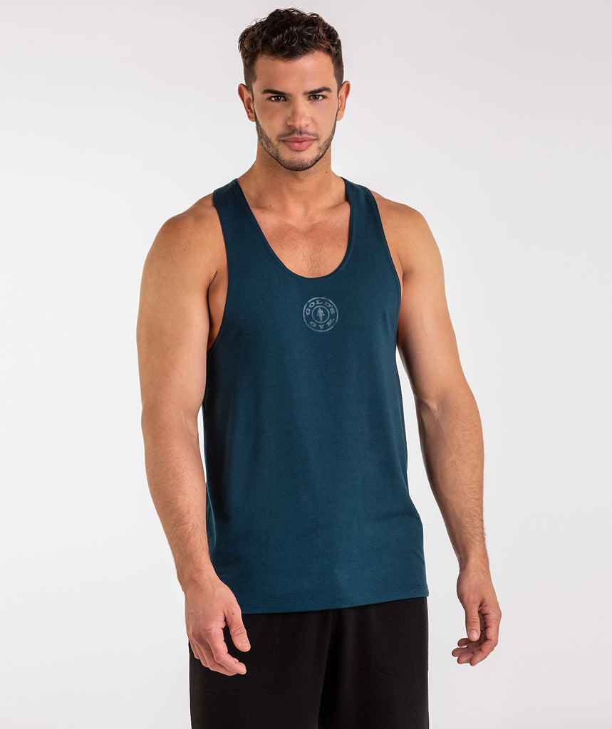 Gymshark Golds Gym Stringer - Lagoon Blue 2