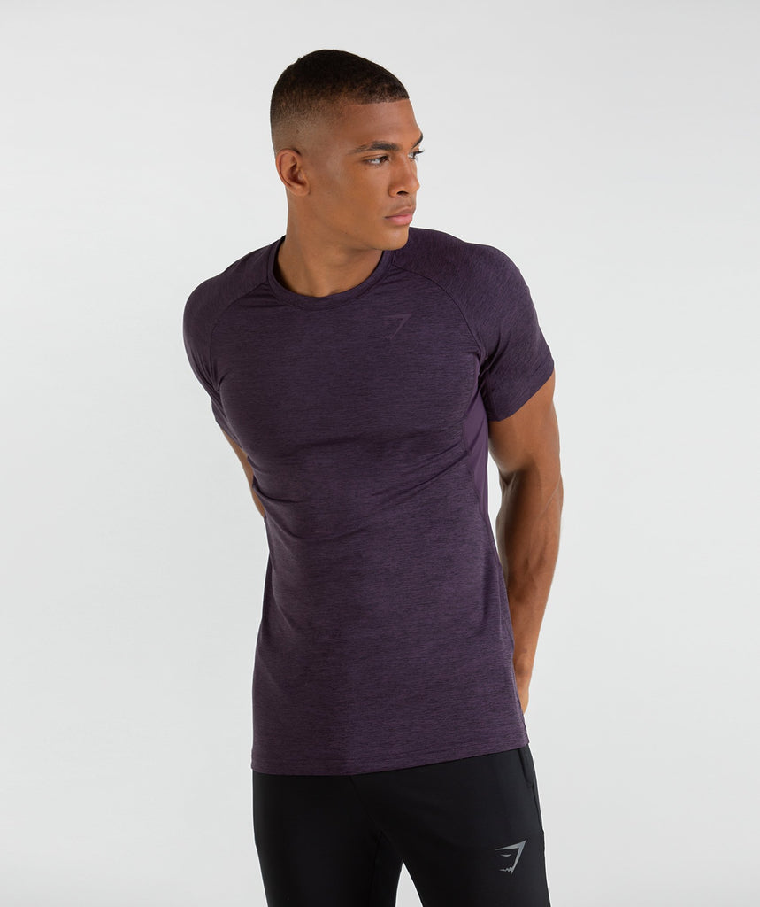 Gymshark Vertex T-Shirt - Nightshade Purple Marl 1