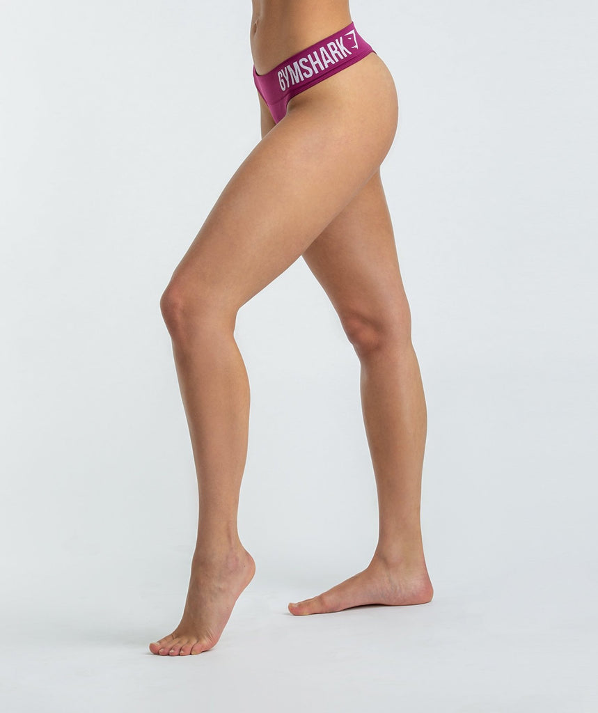 Gymshark Seamless Thong - Deep Plum 2