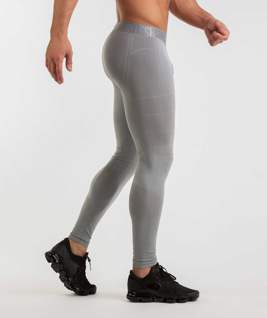 Gymshark Onyx Imperial Leggings - Light Grey 6