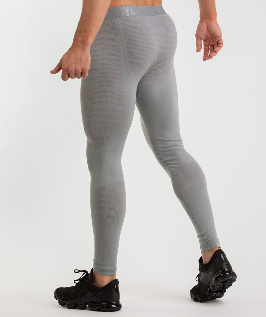 Gymshark Onyx Imperial Leggings - Light Grey 4