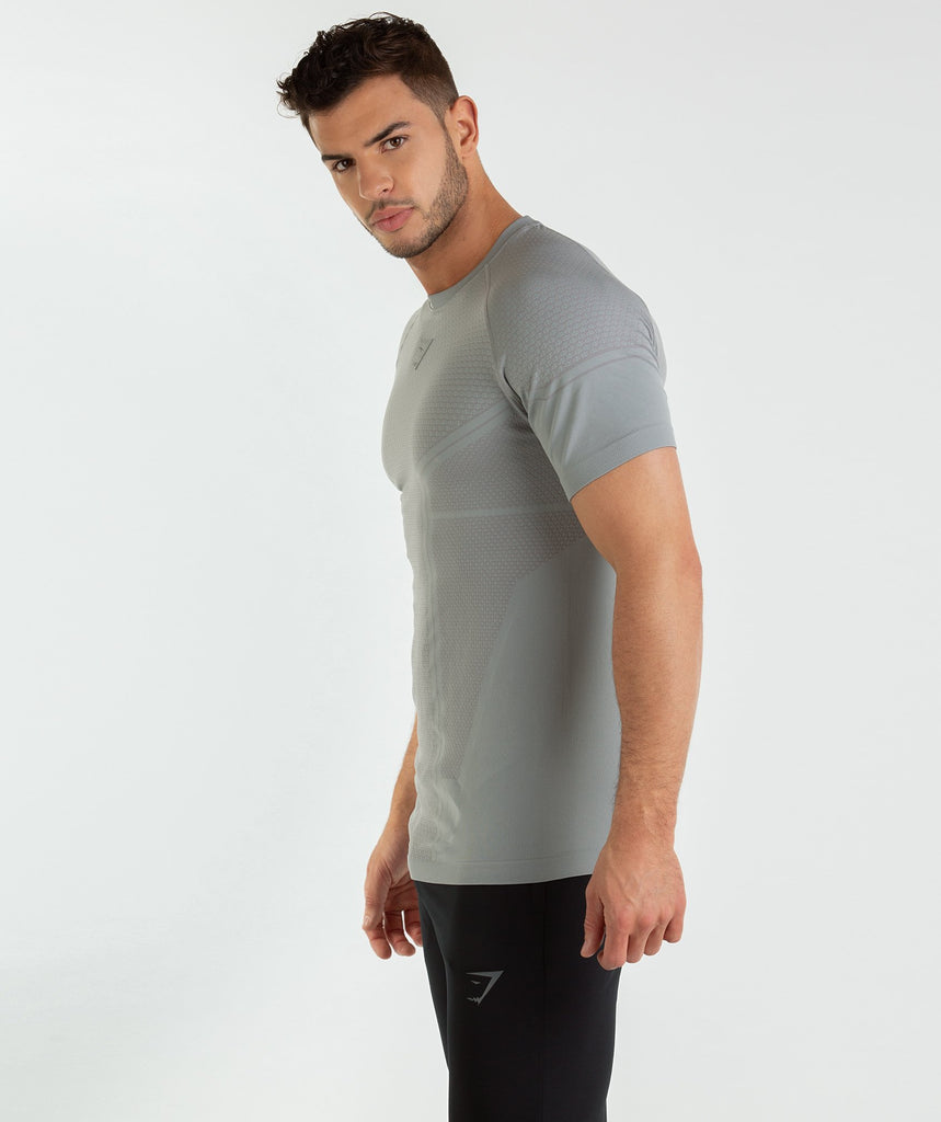 Gymshark Onyx Imperial T-Shirt - Light Grey 2