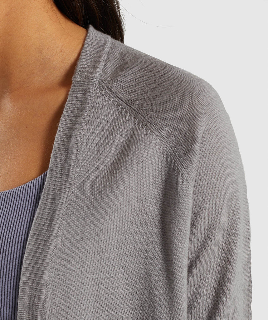 Gymshark Isla Knit Open Cardigan - Light Grey 5