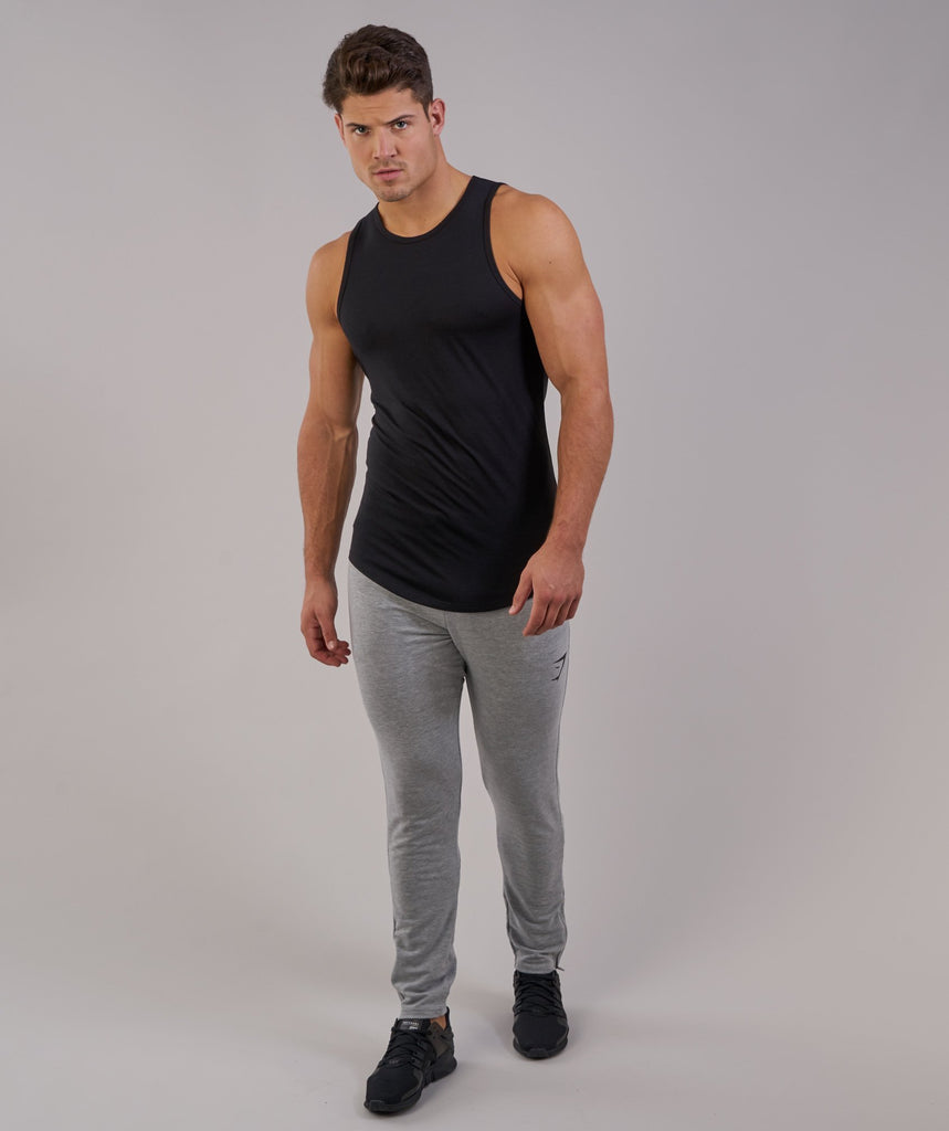 Perforated Longline Tank - Black 1