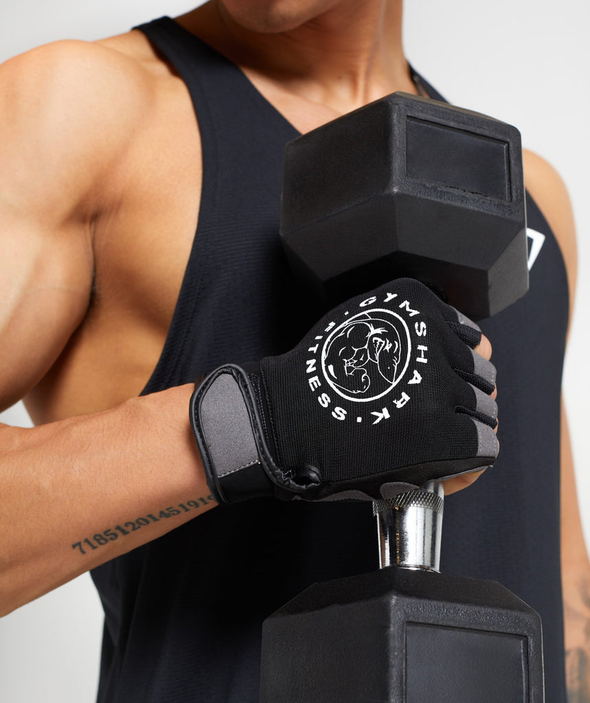 Gymshark Legacy Lifting Gloves - Black/White 1