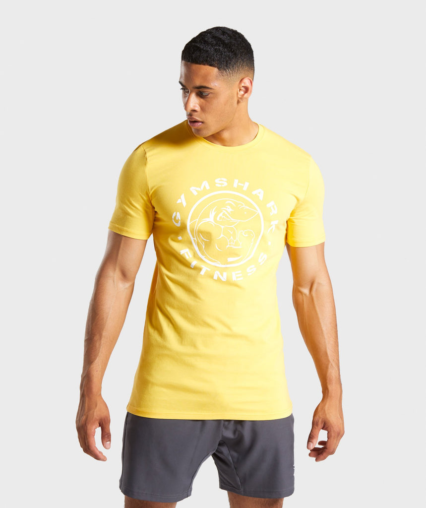 Gymshark Legacy T-Shirt- Golden Yellow 1