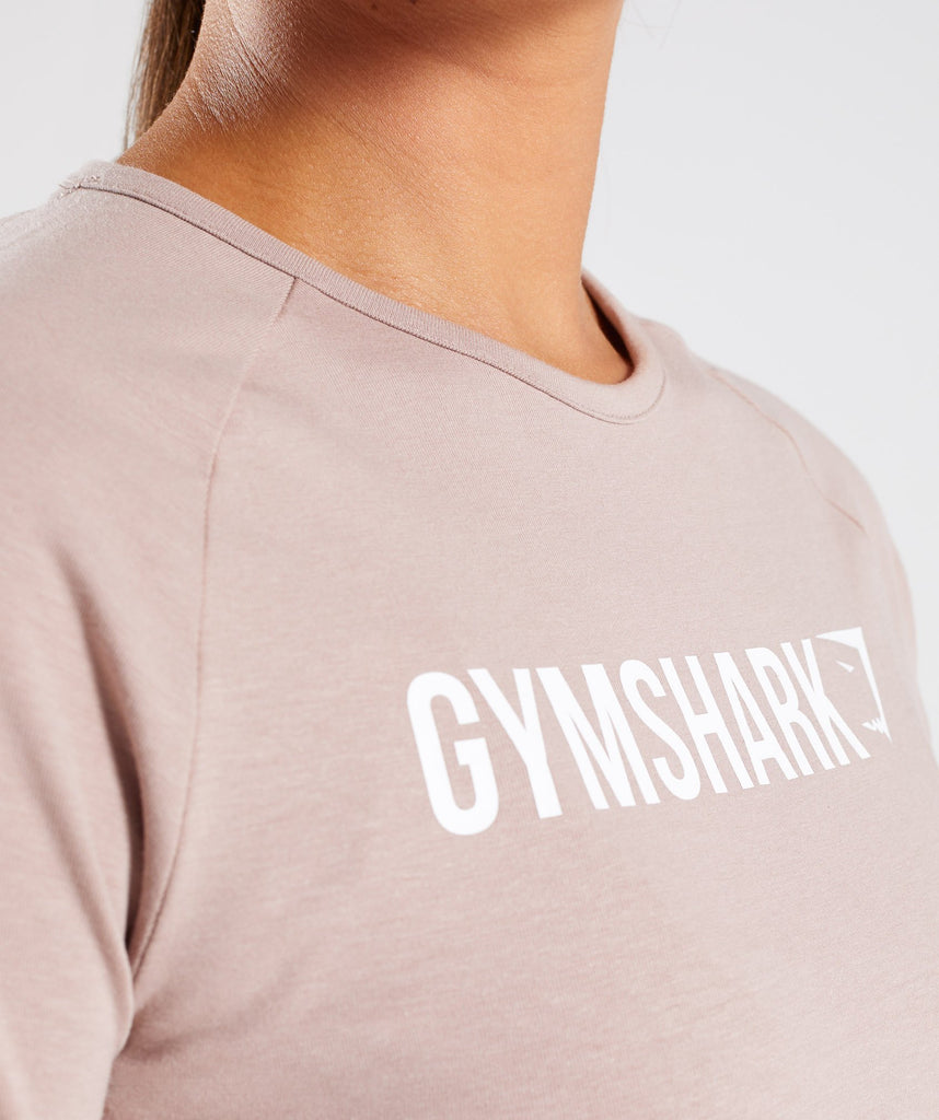 Gymshark Long Sleeve Ribbon Crop Top - Taupe 5