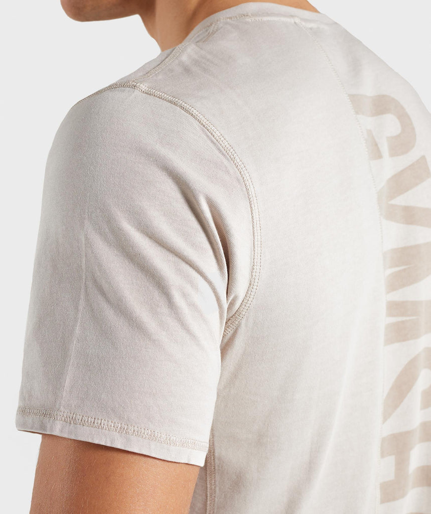 Gymshark Laundered T-Shirt - Chalk Grey 5