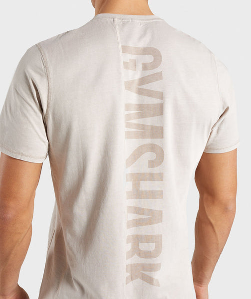 Gymshark Laundered T-Shirt - Chalk Grey 4
