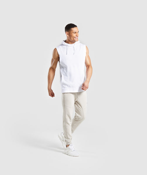 Gymshark Laundered Sleeveless Hoodie - White 2