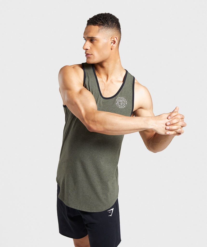 Gymshark Legacy Luxe Tank - Green 1