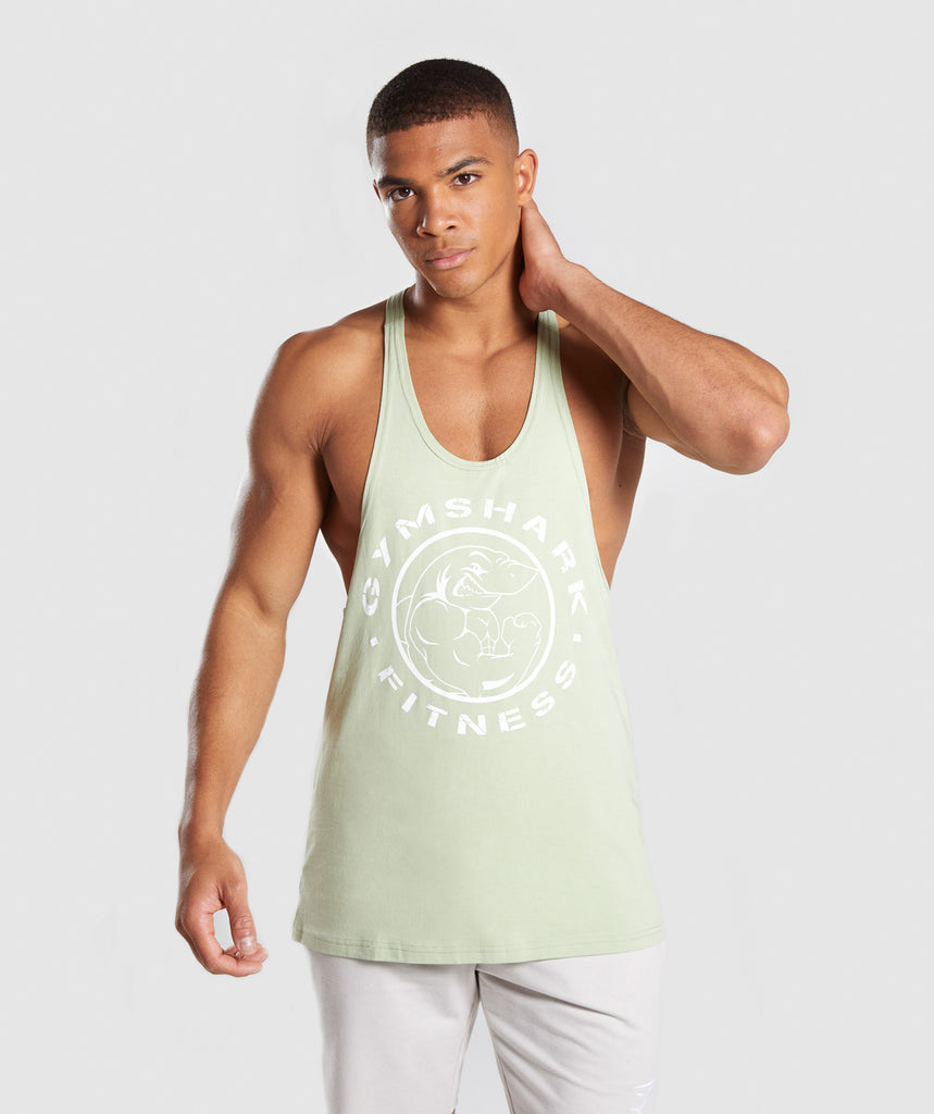Gymshark Legacy Stringer - Light Green 1