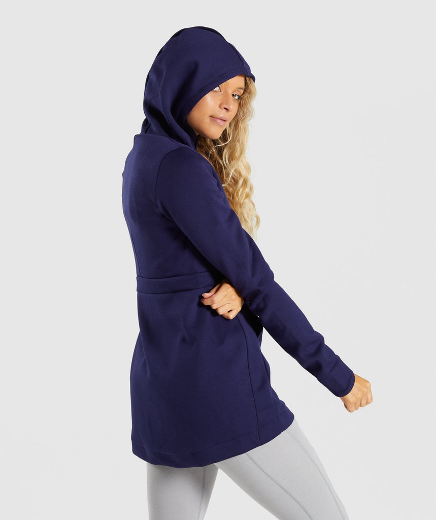 Gymshark Longline Jacket - Evening Navy Blue 2