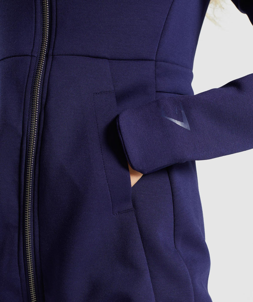 Gymshark Longline Jacket - Evening Navy Blue 5