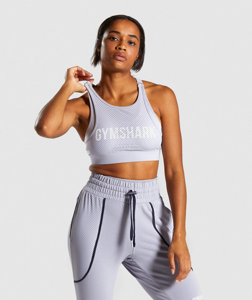 Gymshark Movement Mesh Sports Bra - Lilac 1