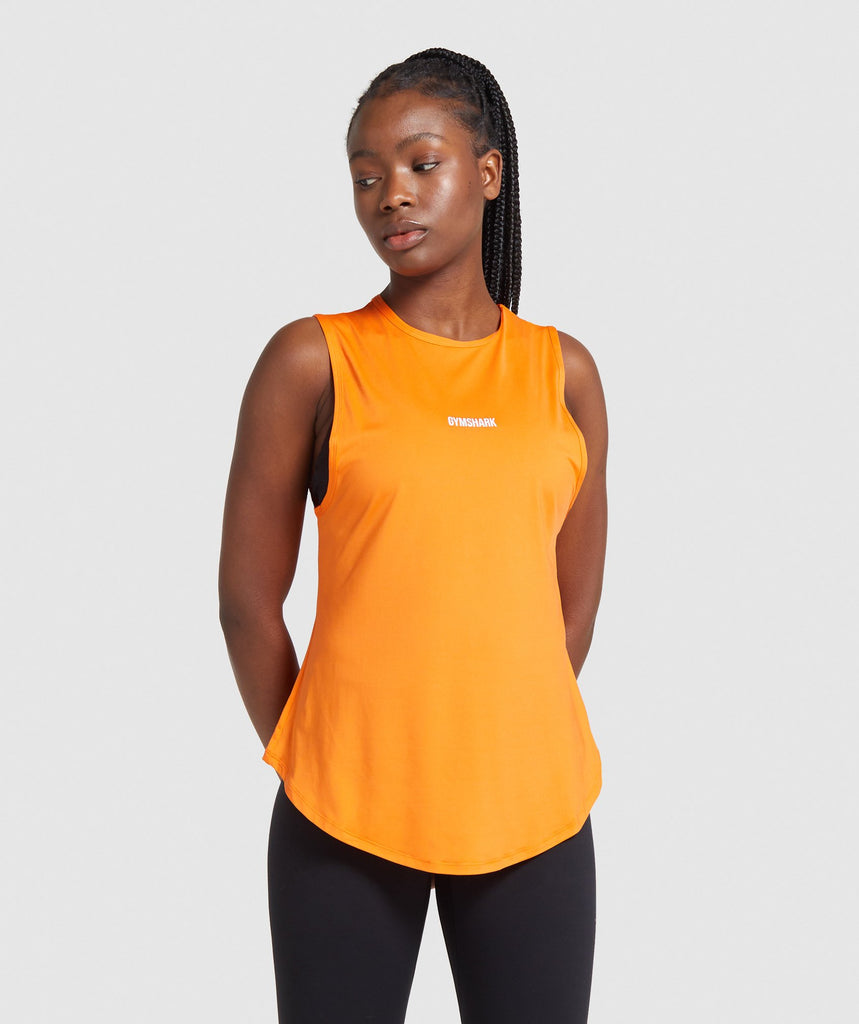 Gymshark Multi Fit Training Vest - Orange 1