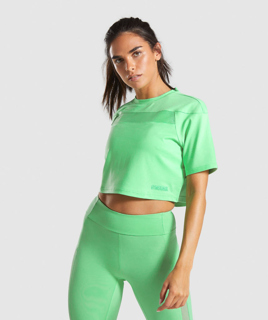 Gymshark Move Crop Top - Light Green 1