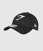 Gymshark New Era 9FORTY Adjustable- Black/White 7