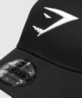 Gymshark New Era 9FORTY Adjustable- Black/White 9