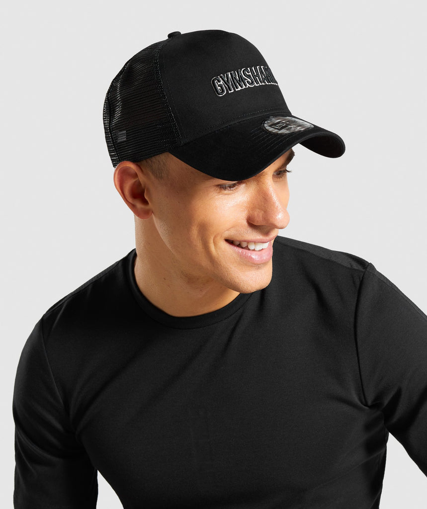 Gymshark New Era GS Trucker - Black/Off White 1