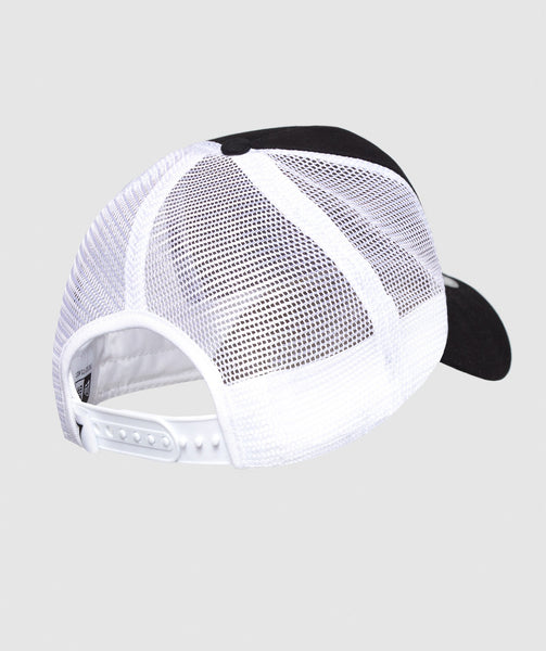 Gymshark New Era Mesh Trucker - Black/White 1