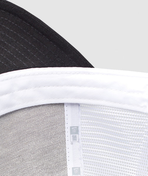 Gymshark New Era Mesh Trucker - Black/White 4