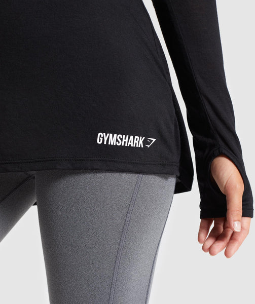 Gymshark Open Cross Back Long Sleeve - Black 4