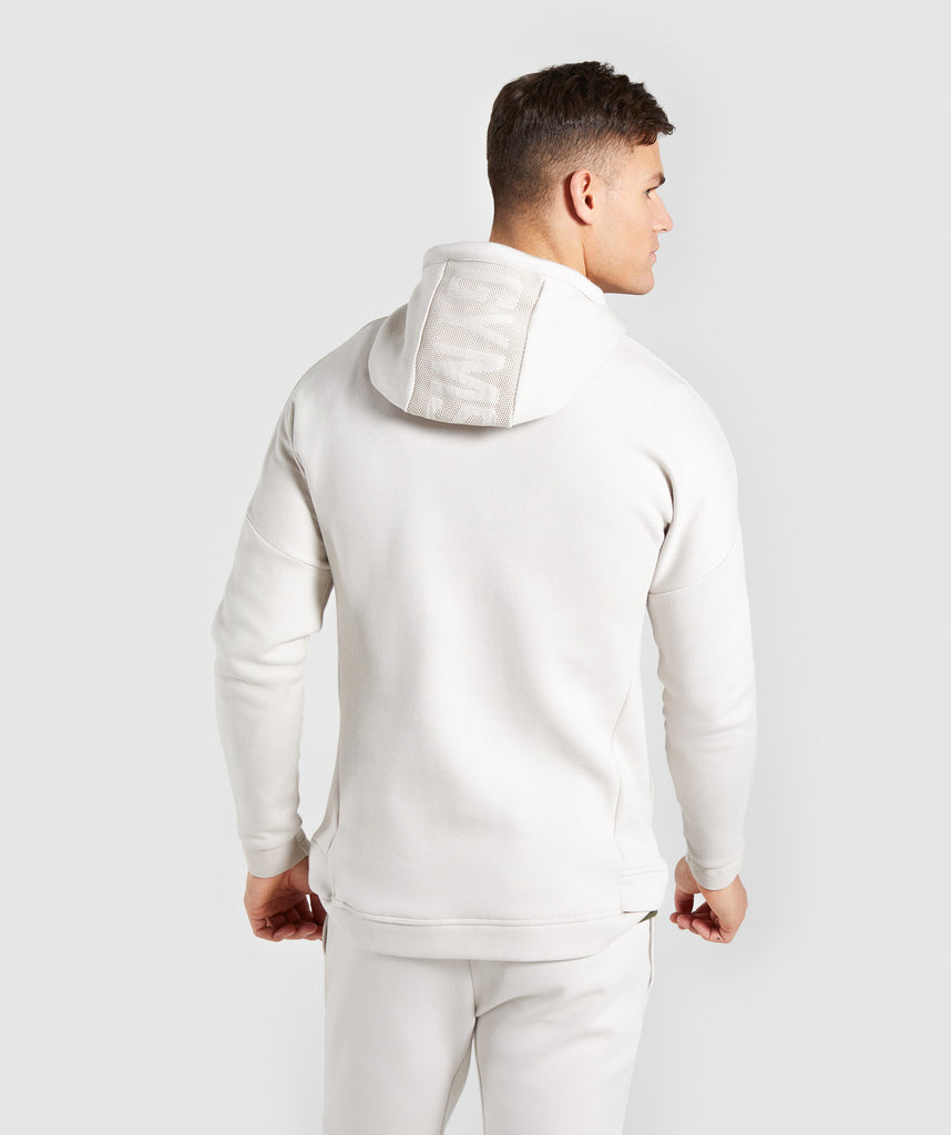 Gymshark Orbit Zip Hoodie - Light Grey 2