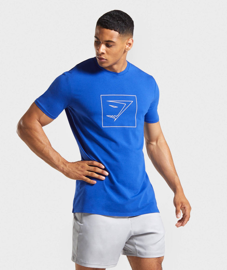 Gymshark Outline T-Shirt - Blue 1