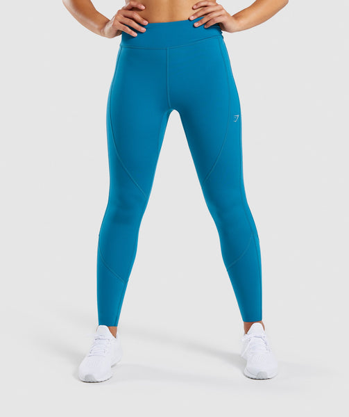 Gymshark Pace Running Leggings - Deep Teal 4