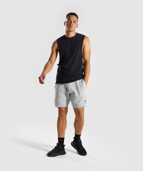 Gymshark Pinnacle Knit Shorts - Light Grey Marl 3